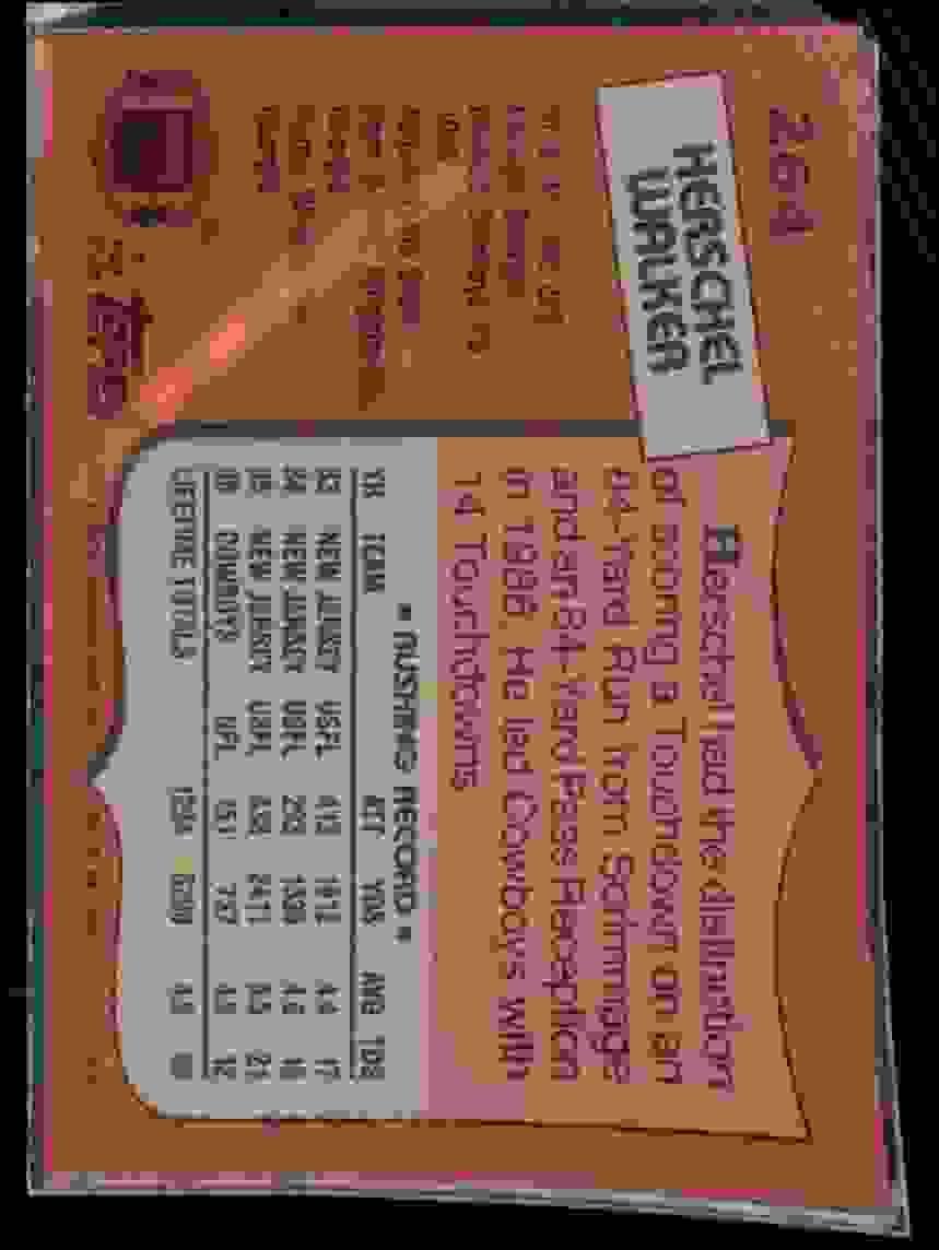 1987 Topps Herschel Walker #264 card back image
