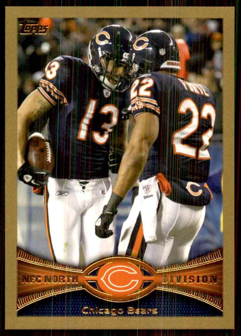 2012 Topps Gold Chicago Bears/Jay Cutler/Matt Forte #13 card front image