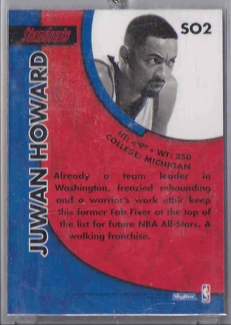 1996-97 Skybox Premium Standouts Juwan Howard #SO2 card back image