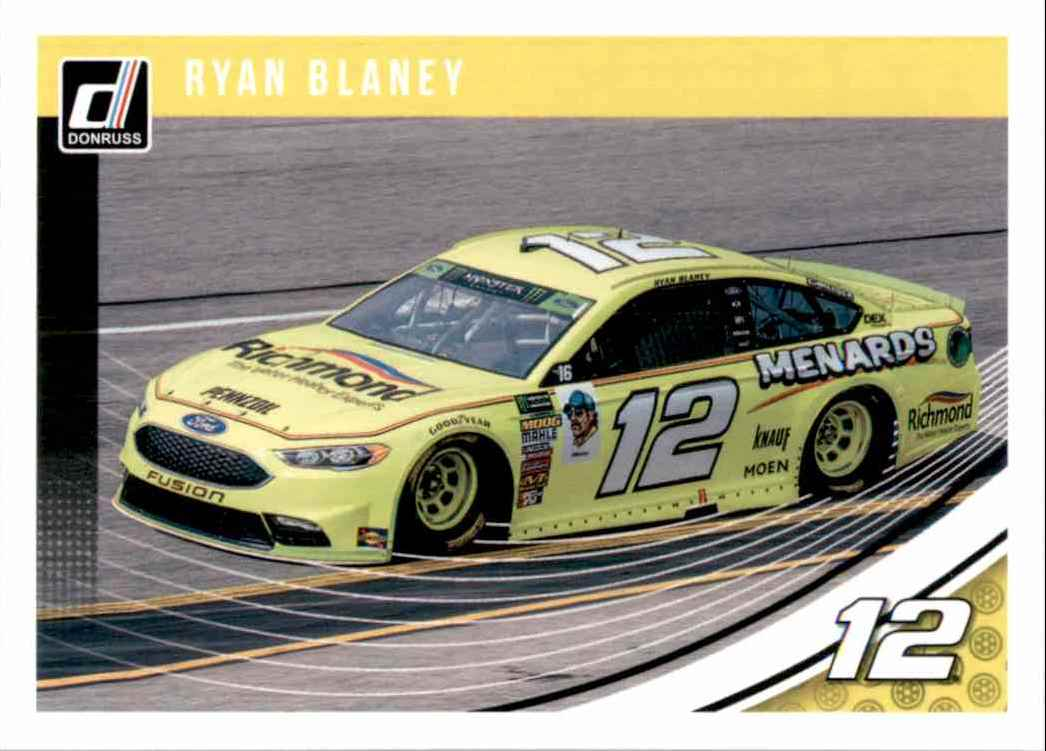 2019 Donruss Ryan Blaney #97 card front image