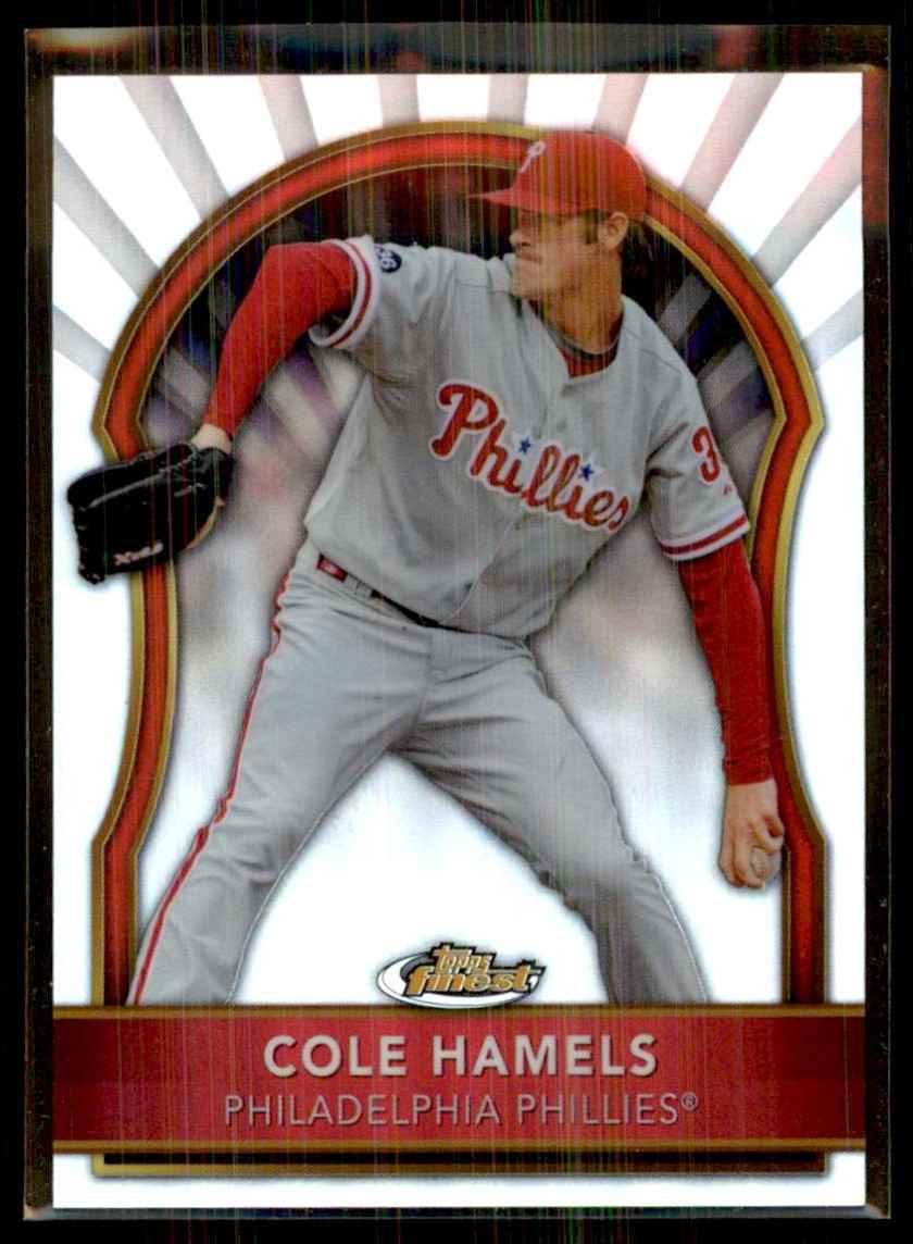 2011 Finest Refractors Cole Hamels #24 card front image