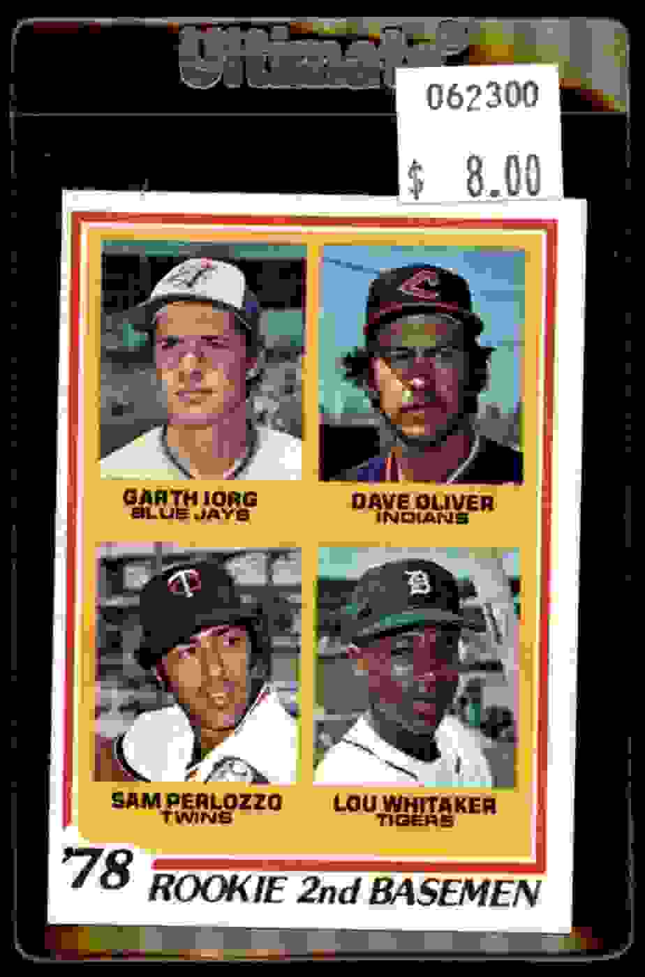 1978 Topps Lou Whitaker Dave Oliver Sam Perlozzo Garth Iorg #704 card front image