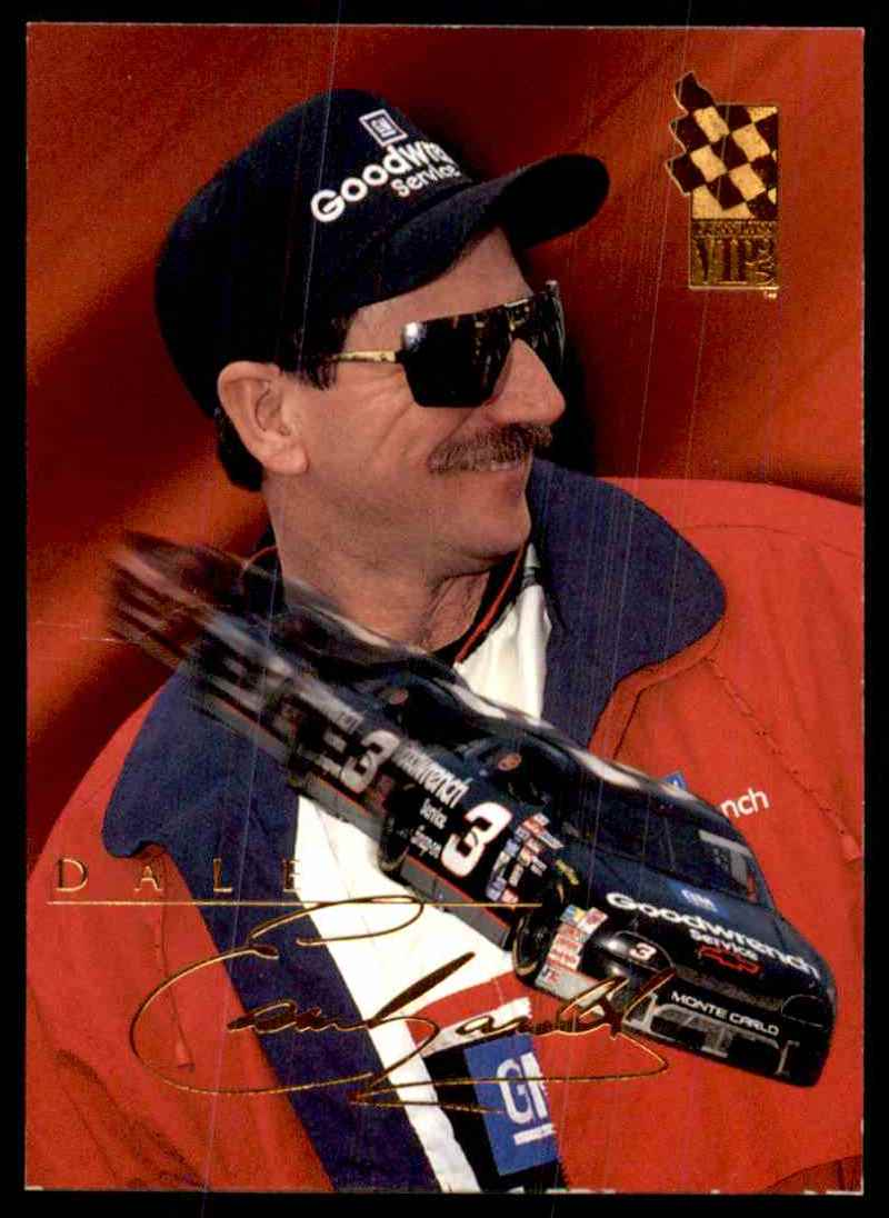 1995 Vip Dale Earnhardt #9 card front image
