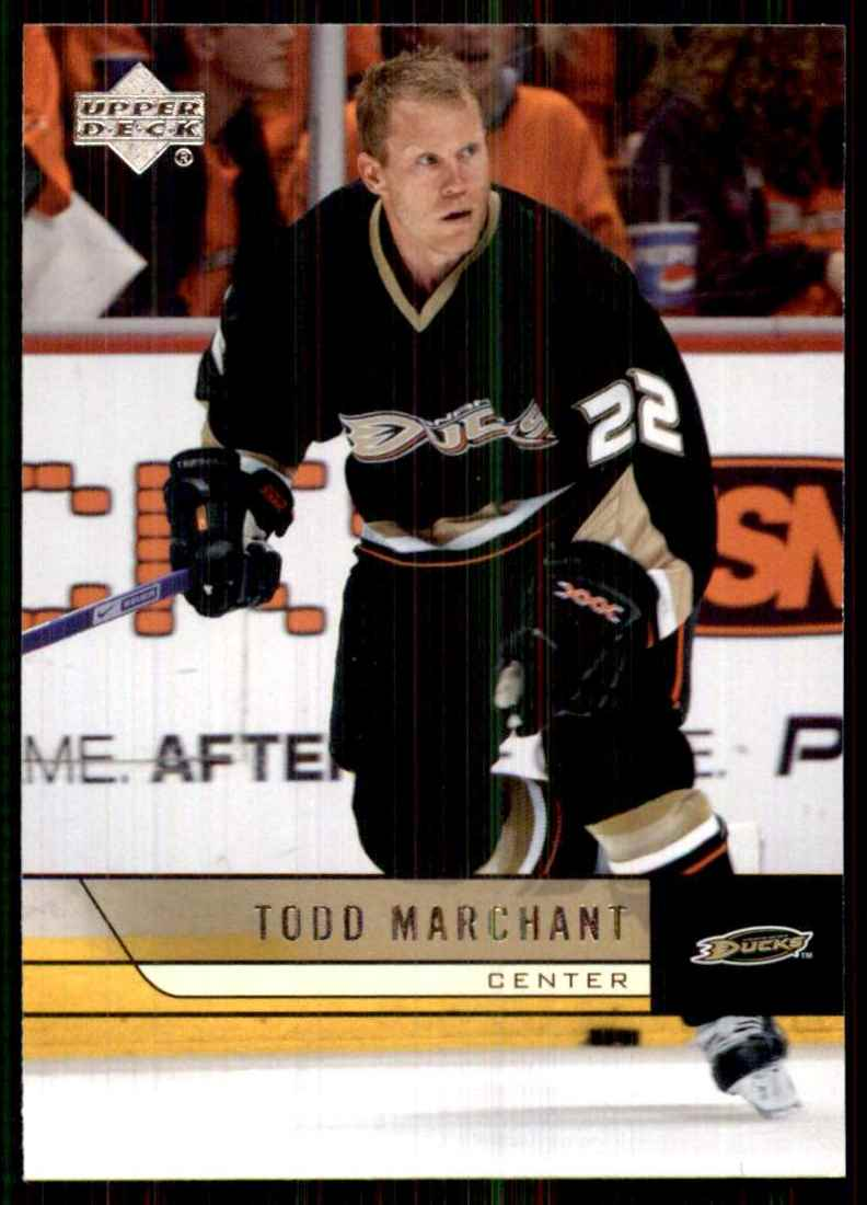 2006-07 Upper Deck Todd Marchant #256 card front image