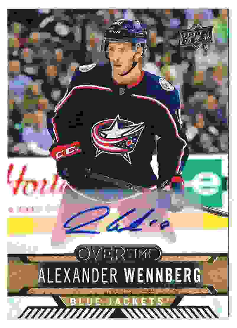 2017-18 UD Overtime Autograph Alexander Wennberg #123 card front image