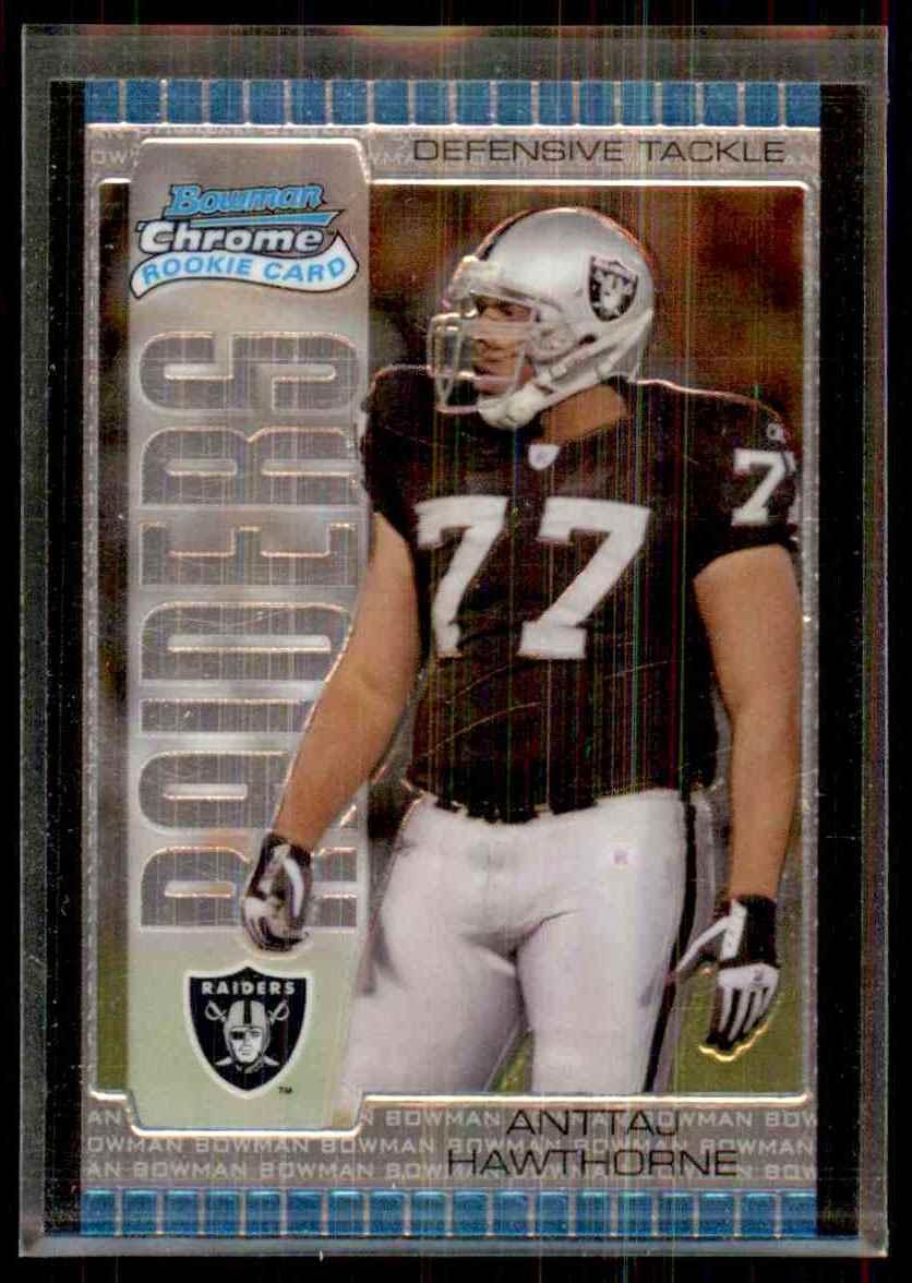 2005 Bowman Chrome Anttaj Hawthorne RC #174 card front image