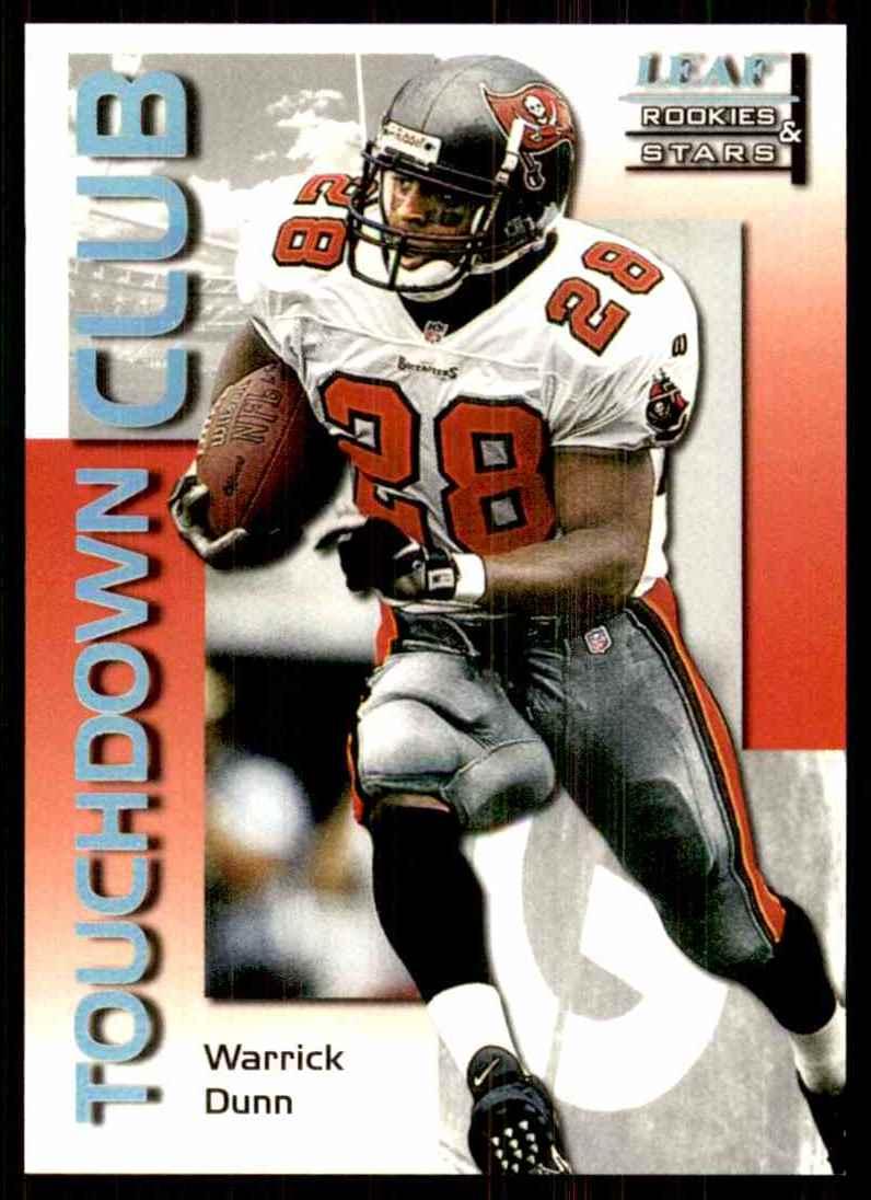 1998 Leaf Rookies & Stars Touchdown Club Warrick Dunn #13 card front image