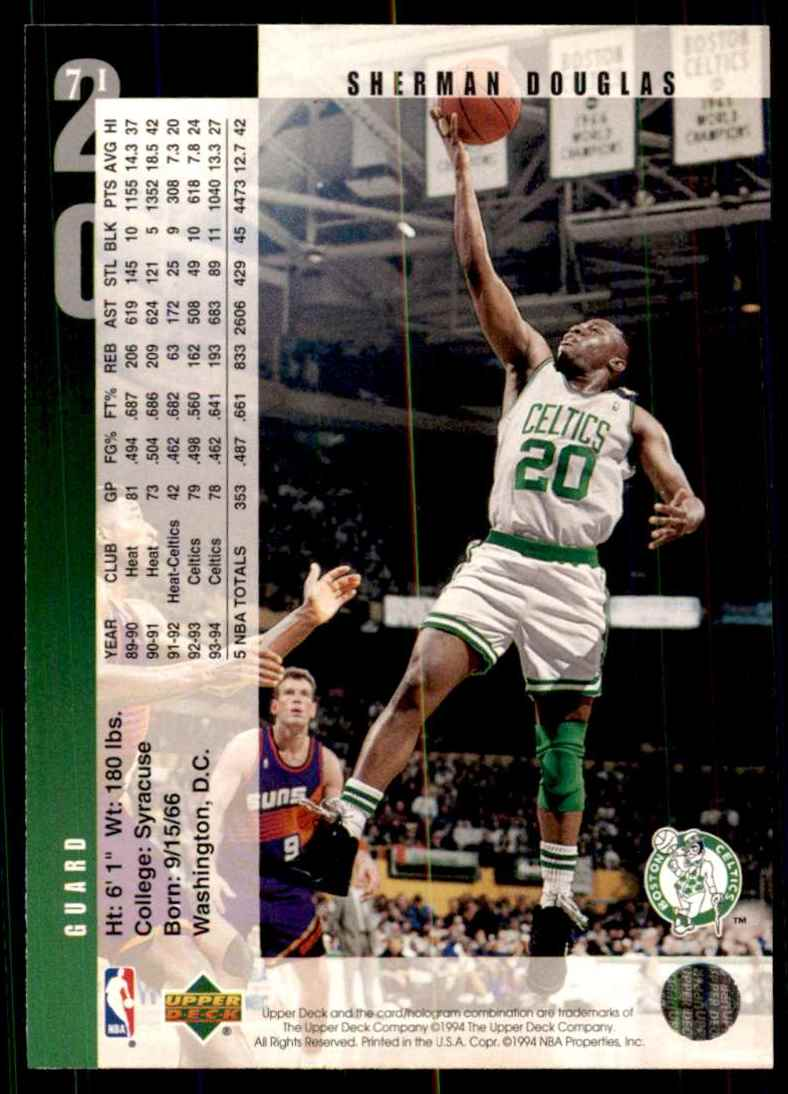 1994-95 Upper Deck Sherman Douglas #71 card back image