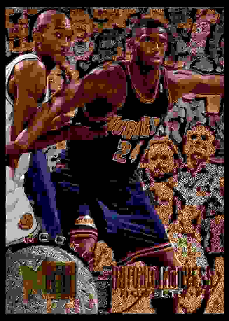 1995-96 Fleer Metal Antonio McDyess RC #143 card front image