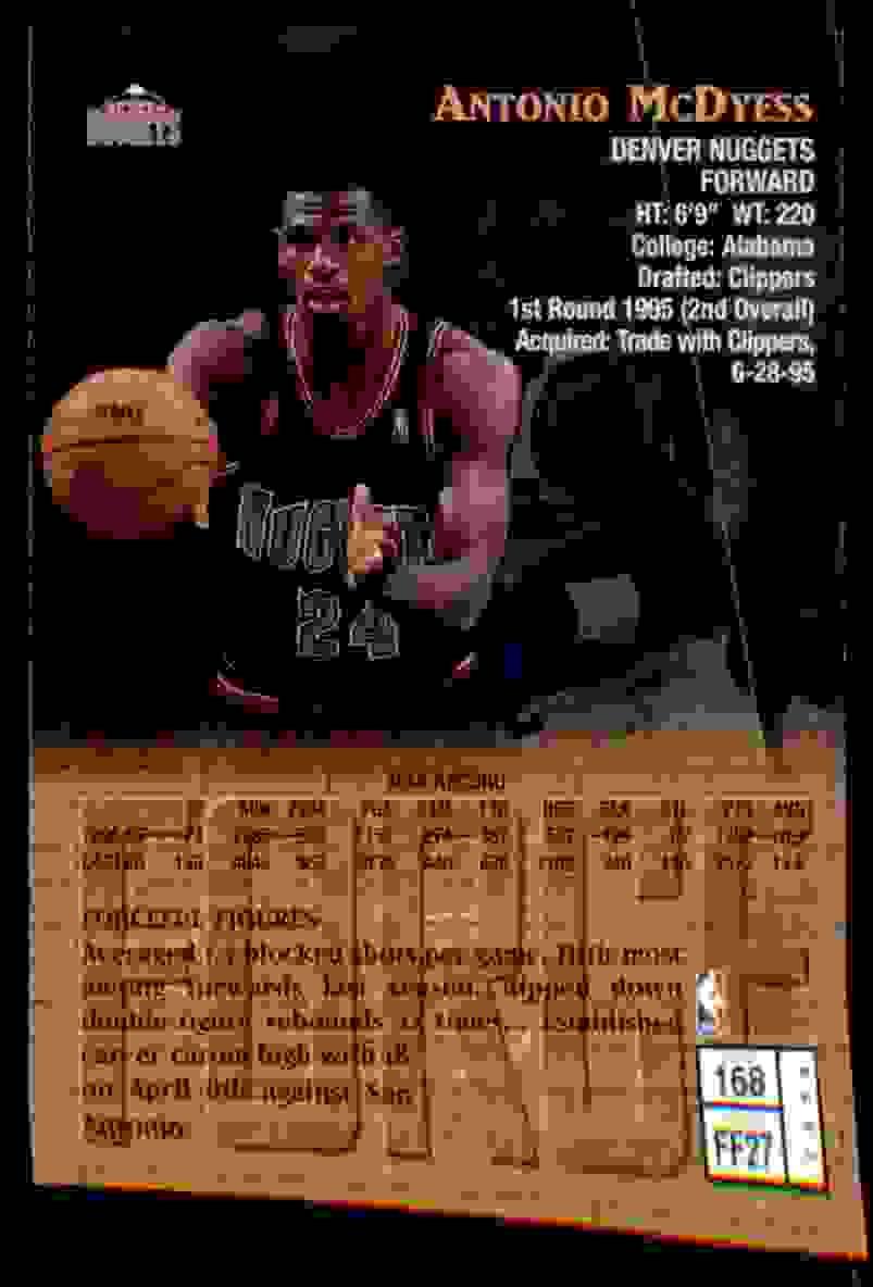 1997-98 Finest Antonio McDyess G #168 card back image