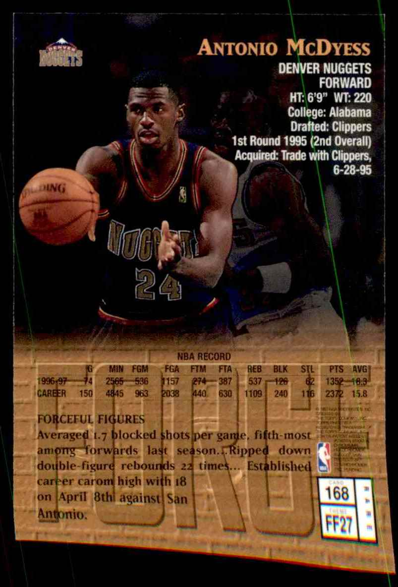1997-98 Finest Antonio McDyess G #168 card back image
