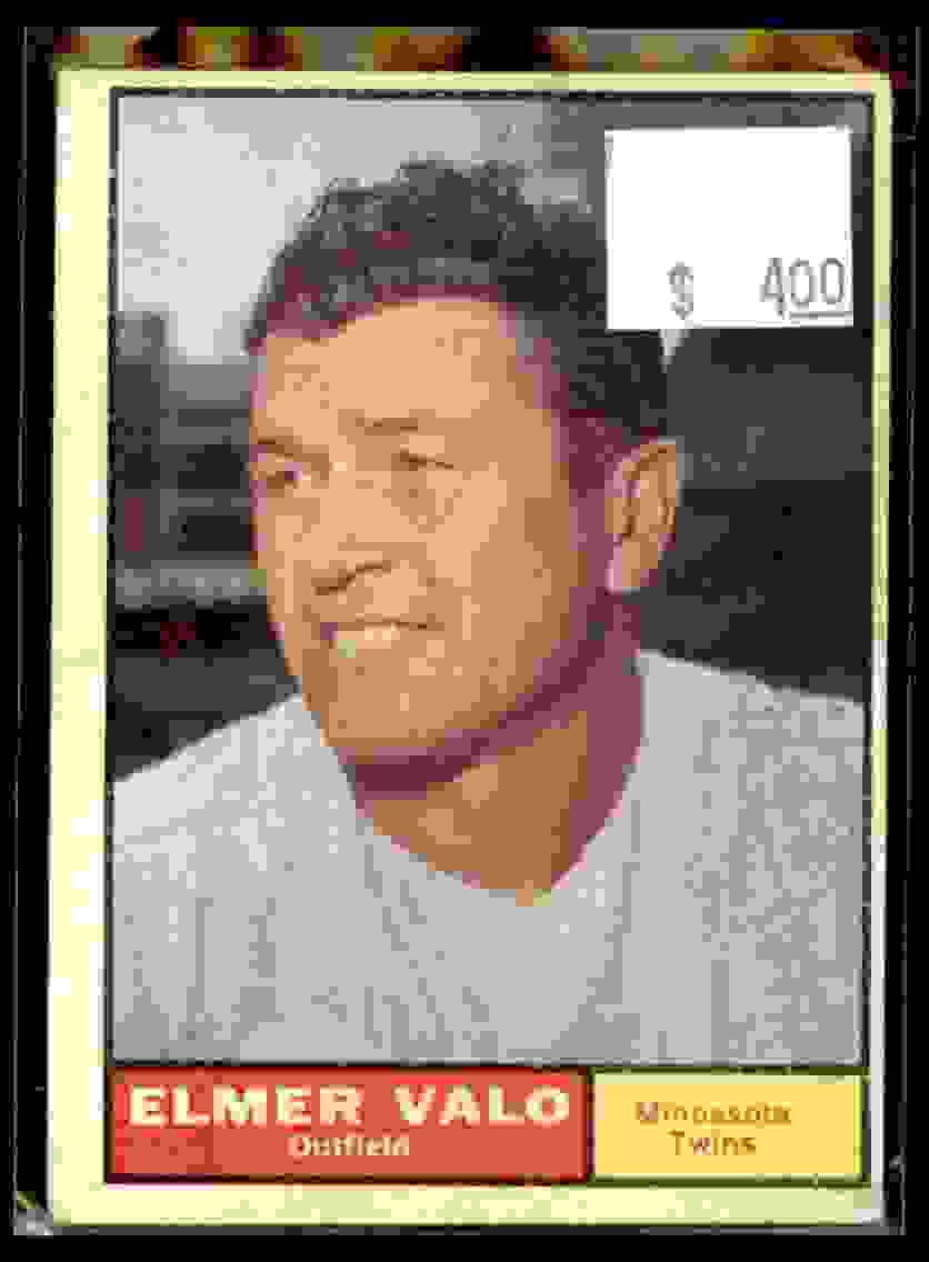 1961 Topps Elmer Valo #186 card front image