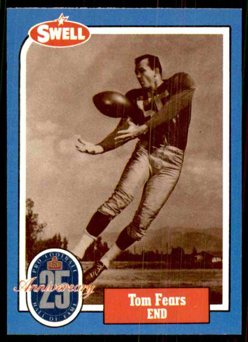 1988 Swell Football Greats Tom Fears 70 #40 card front image