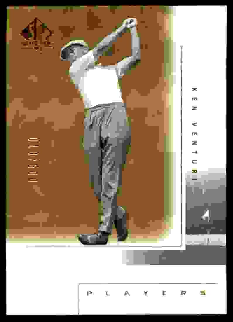 2001 SP Authentic Gold Ken Venturi Mp #118 card front image