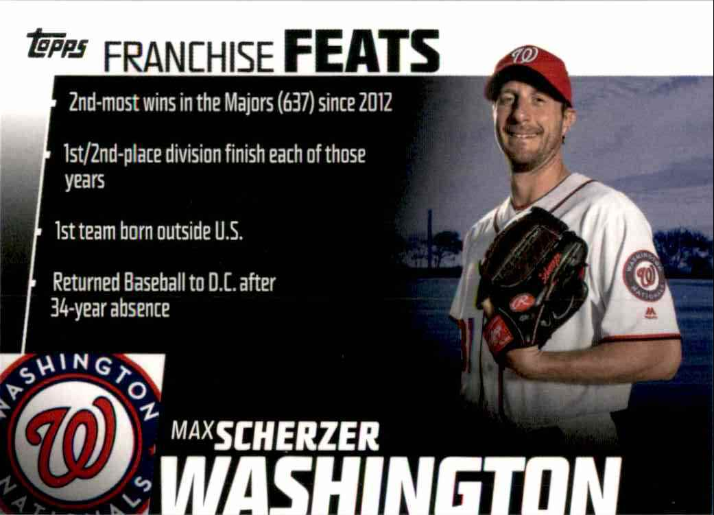 2019 Topps Franchise Feats Max Scherzer #FF29 card front image