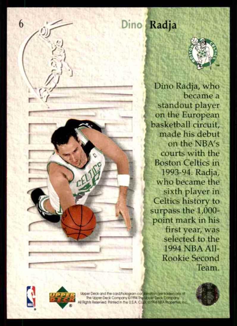 1994-95 Upper Deck Dino Radja Art #6 card back image