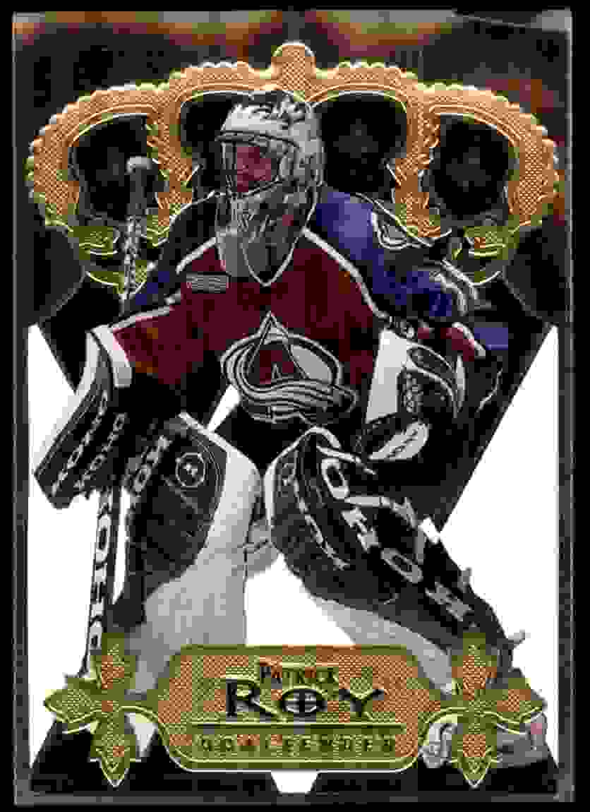 2000-01 Pacific Gold Crown Die-Cuts Patrick Roy #10 card front image