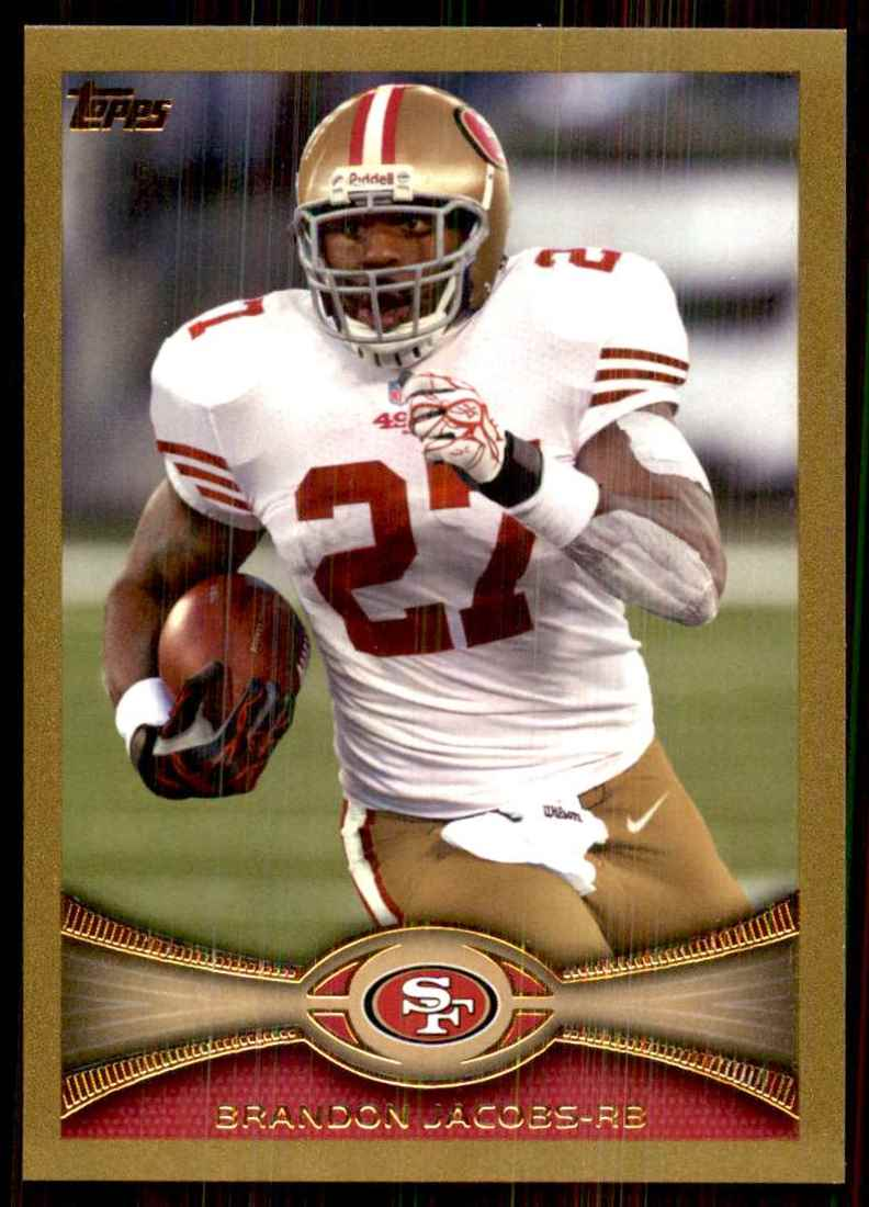 2012 Topps Gold Brandon Jacobs #184 card front image