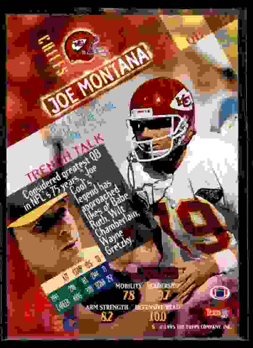 1994 Stadium Club Joe Montana #615 card back image