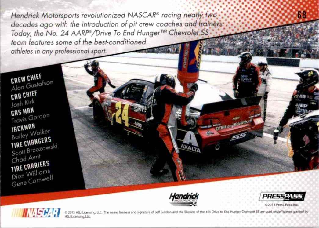 2014 Press Pass Jeff Gordon's Car Gc #68 card back image
