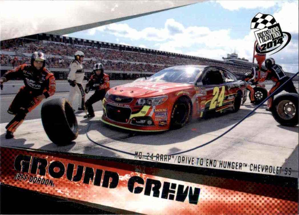 2014 Press Pass Jeff Gordon's Car Gc #68 card front image