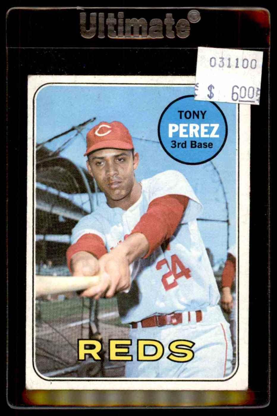 1969 Topps Tony Perez #295 card front image