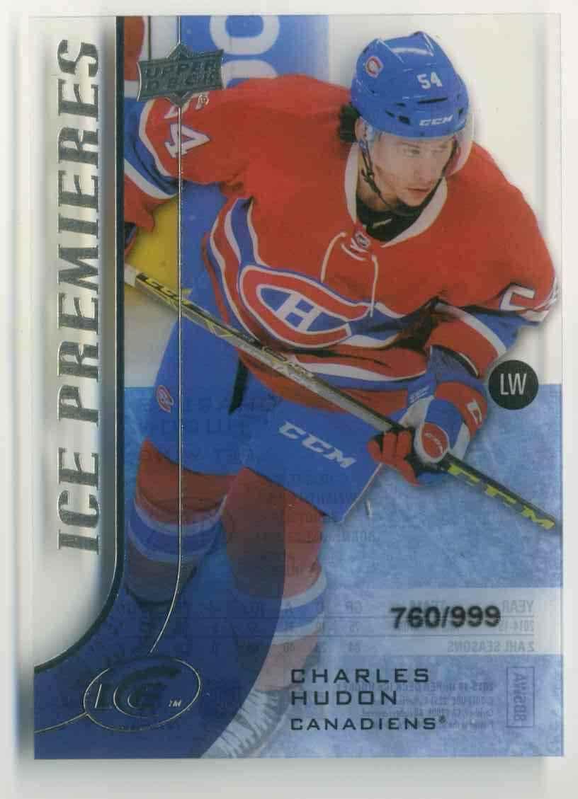 2015-16 Upper Deck Ice Charles Hudon #166 card front image