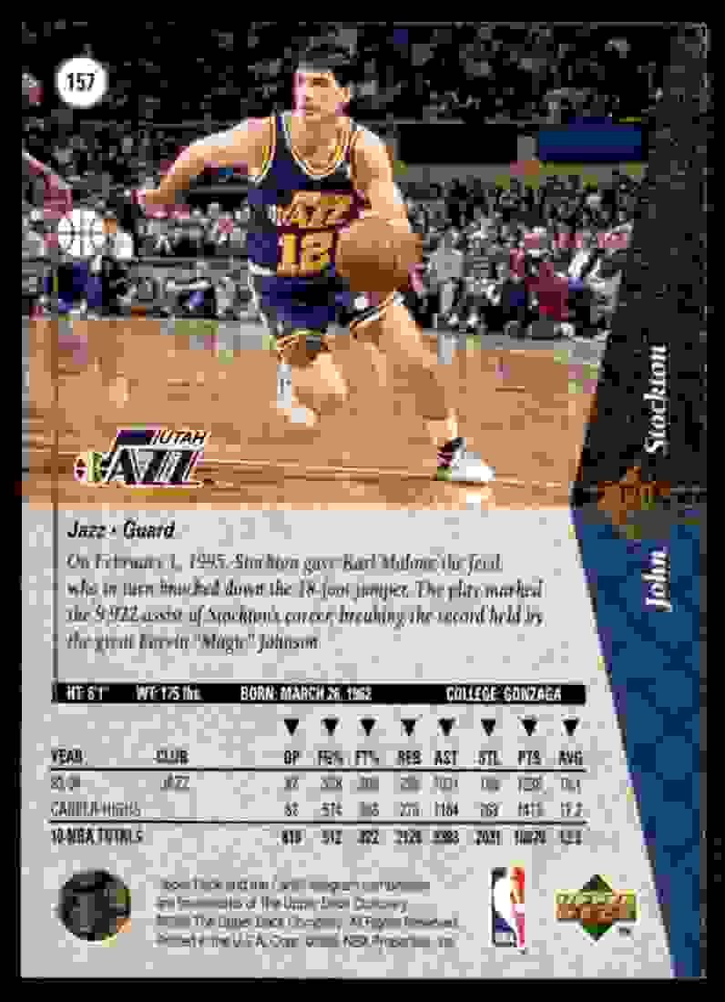 1994-95 SP John Stockton #157 card back image
