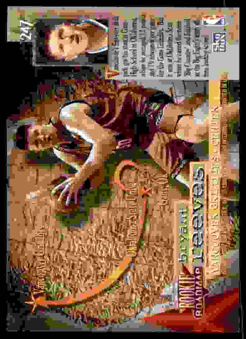 1995-96 Skybox Premium Bryant Reeves RC #247 card back image