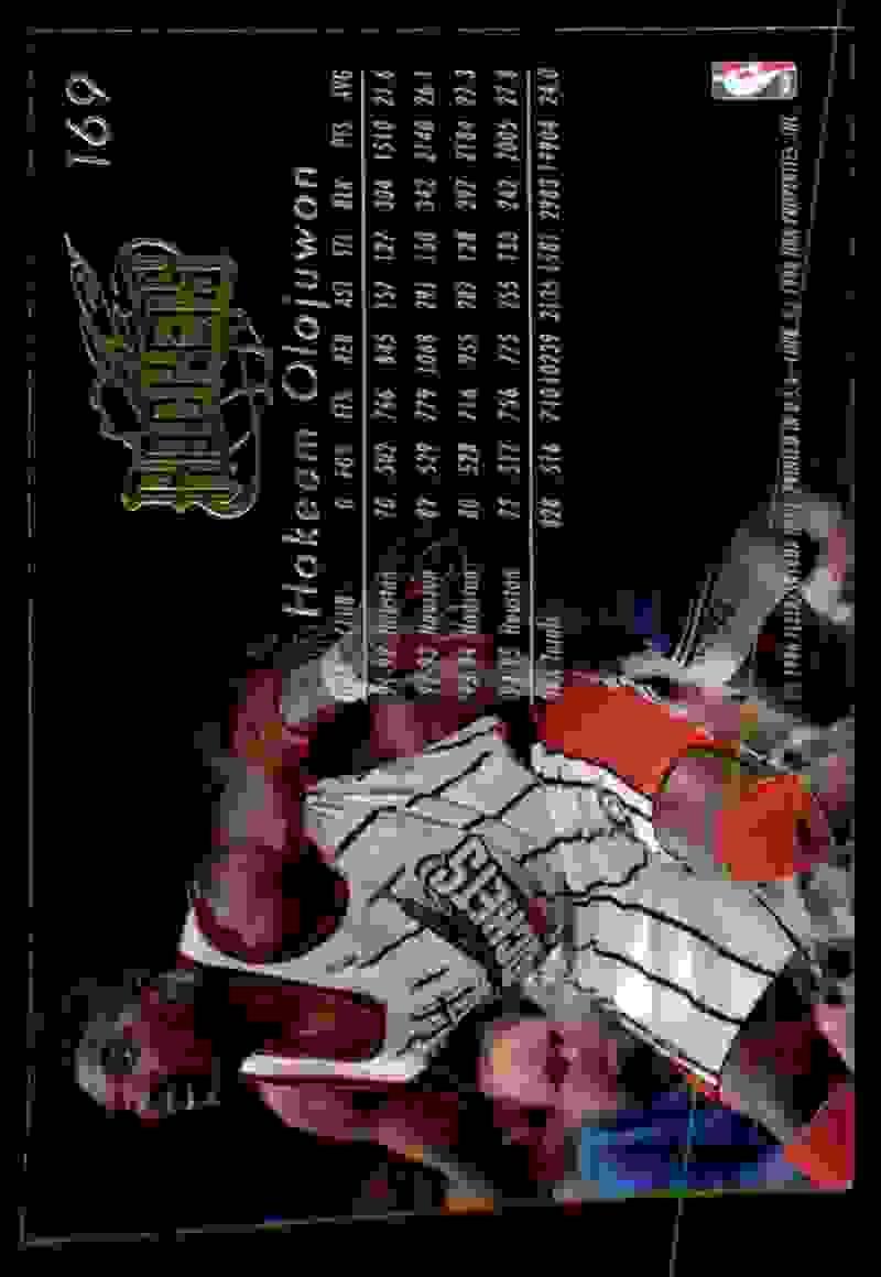 1995-96 Flair Hakeem Olajuwon #169 card back image
