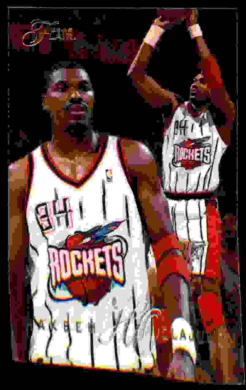 1995-96 Flair Hakeem Olajuwon #169 card front image