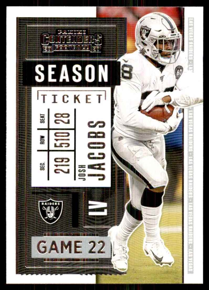 2020 Panini Contenders Josh Jacobs #29 card front image