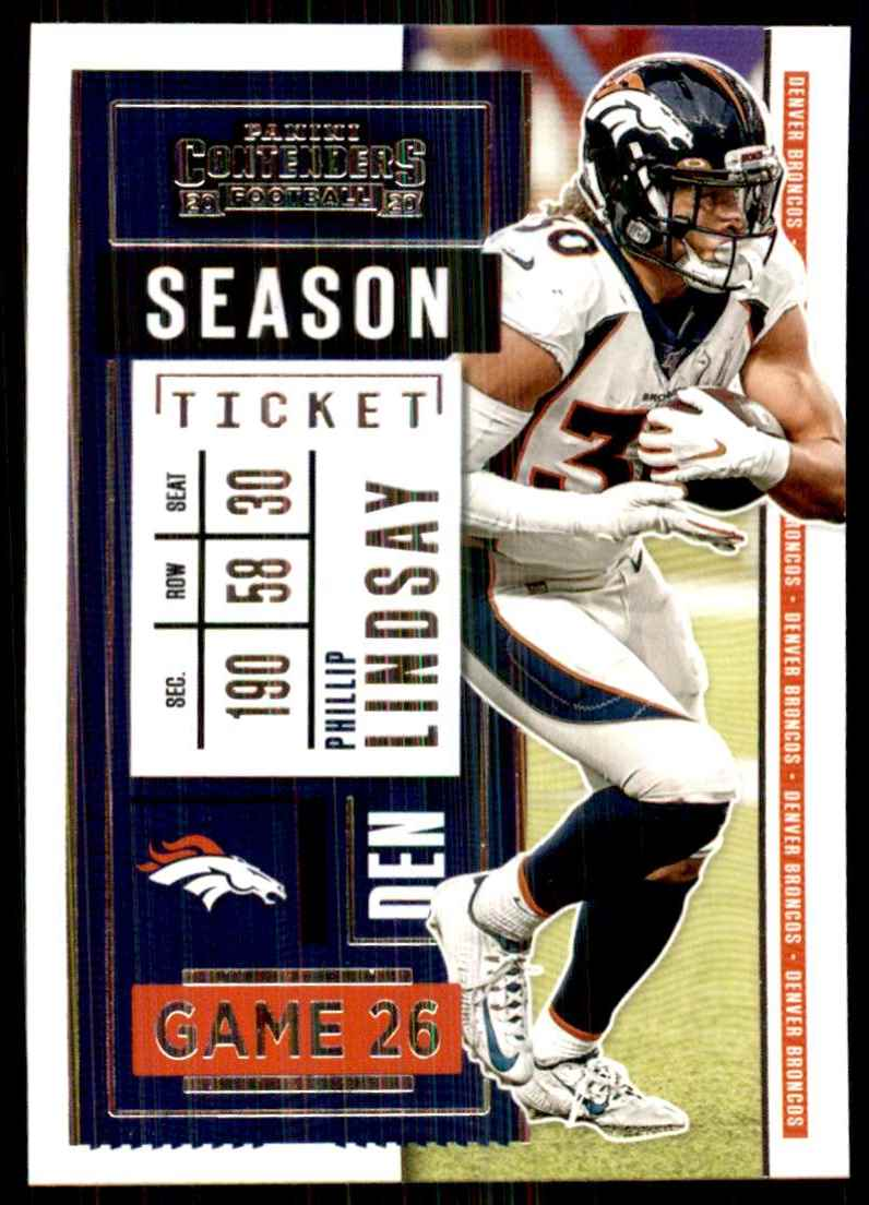2020 Panini Contenders Phillip Lindsay #72 card front image