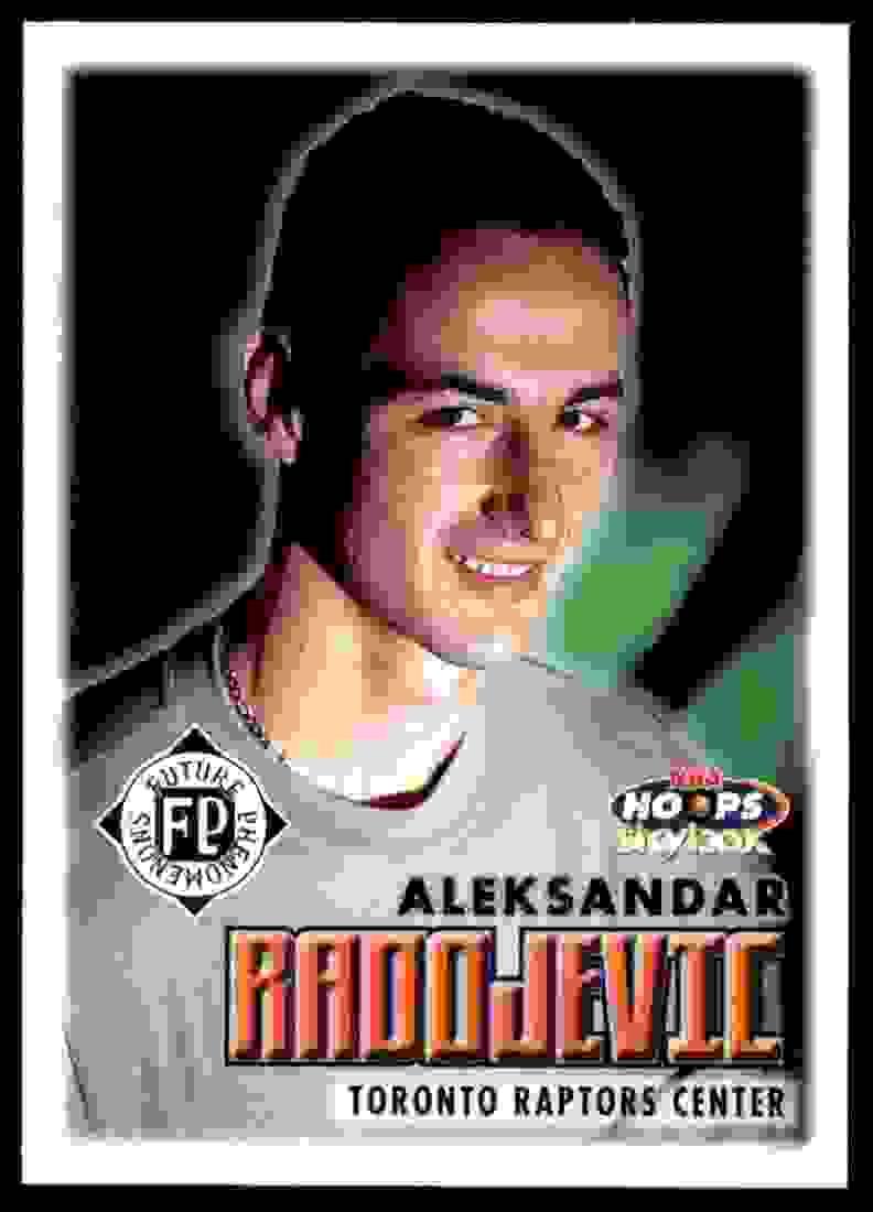 1999-00 Hoops Aleksandar Radojevic RC #182 card front image