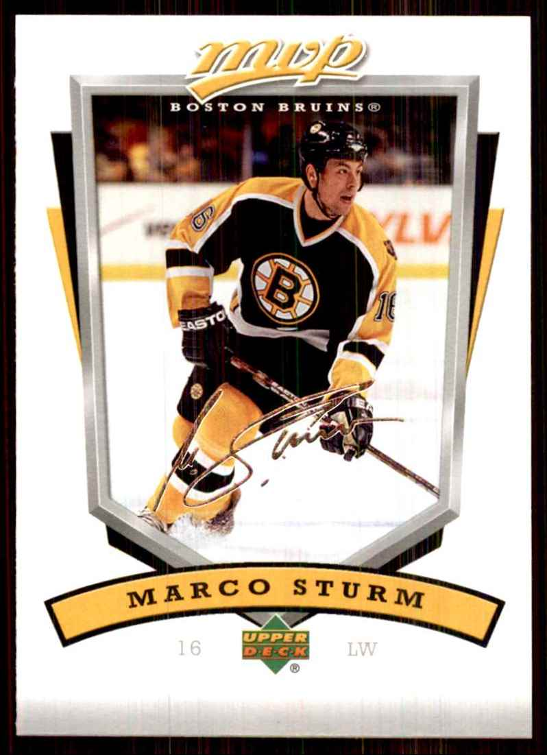 2006-07 Upper Deck MVP Marco Sturm #24 card front image