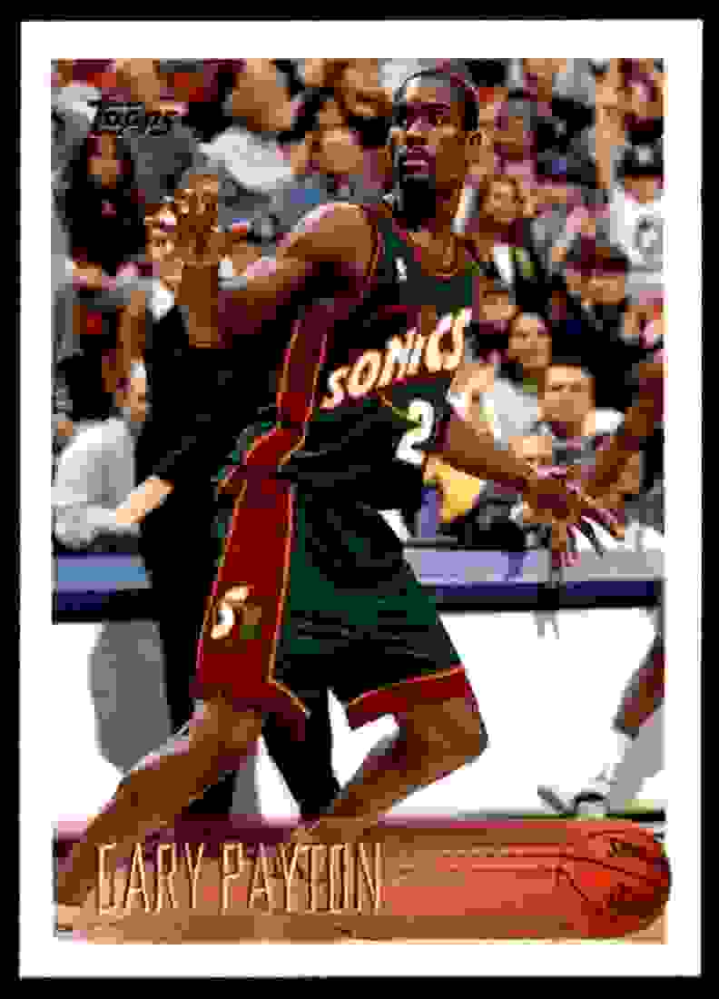 1996-97 Topps Gary Payton #212 card front image