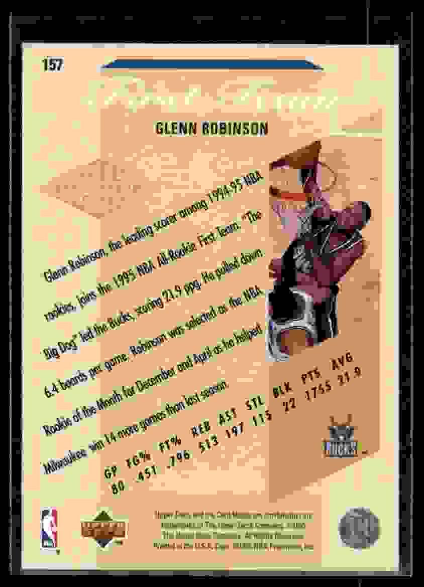 1995-96 Upper Deck Glenn Robinson Art #157 card back image