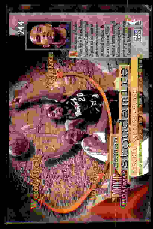 1995-96 Skybox Premium Damon Stoudamire RC #244 card back image