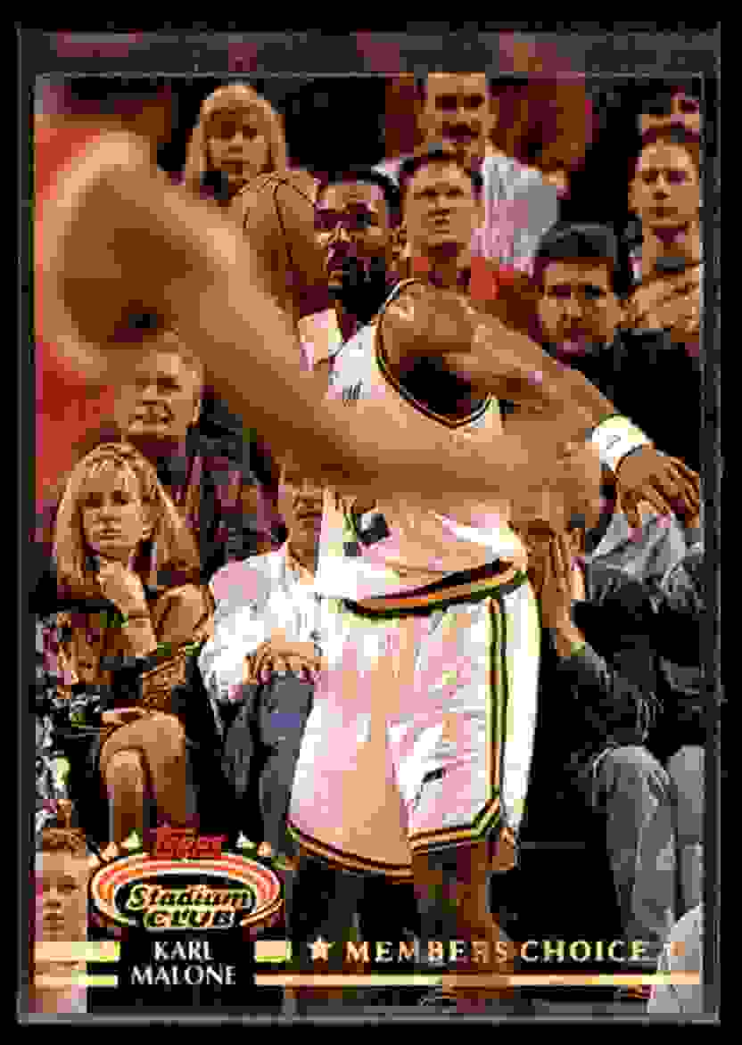 1992-93 Stadium Club Karl Malone MC #205 card front image