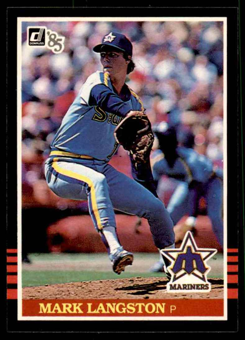 1985 Donruss Mark Langston #557 card front image