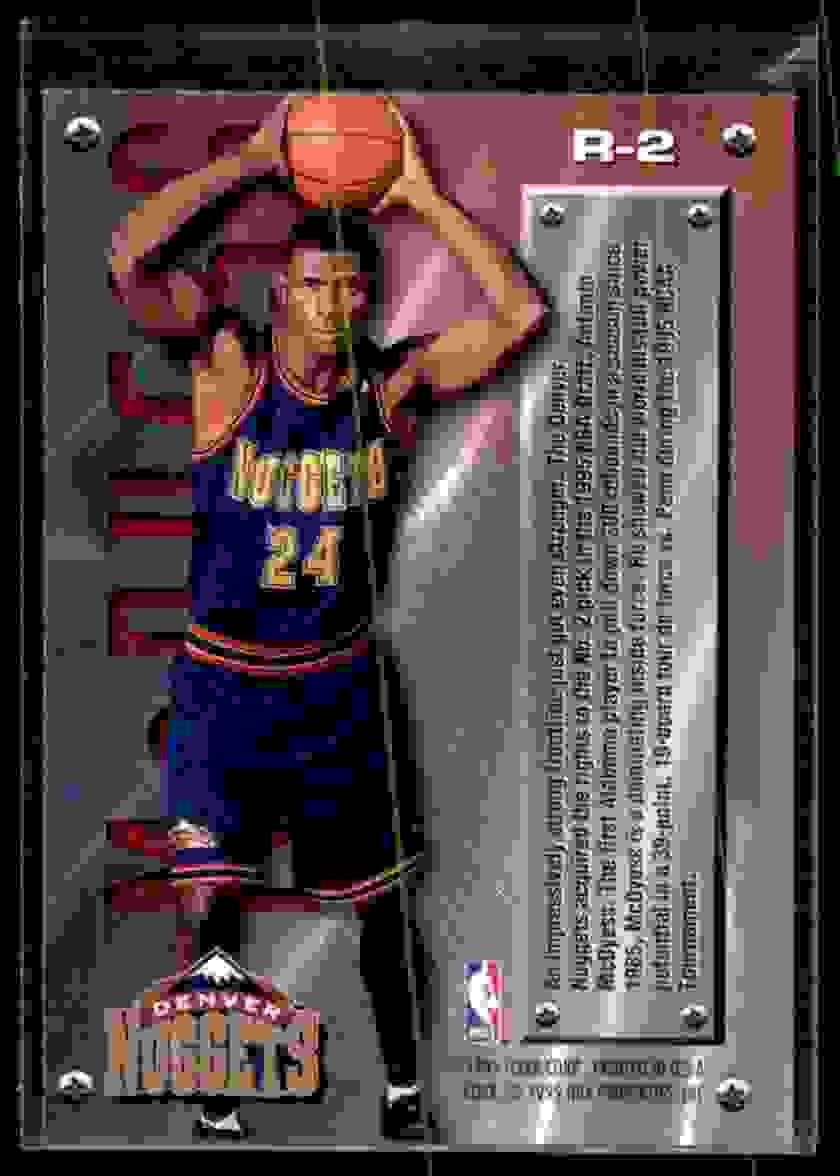 1995-96 Fleer Metal Rookie Roll Call Antonio McDyess #R2 card back image
