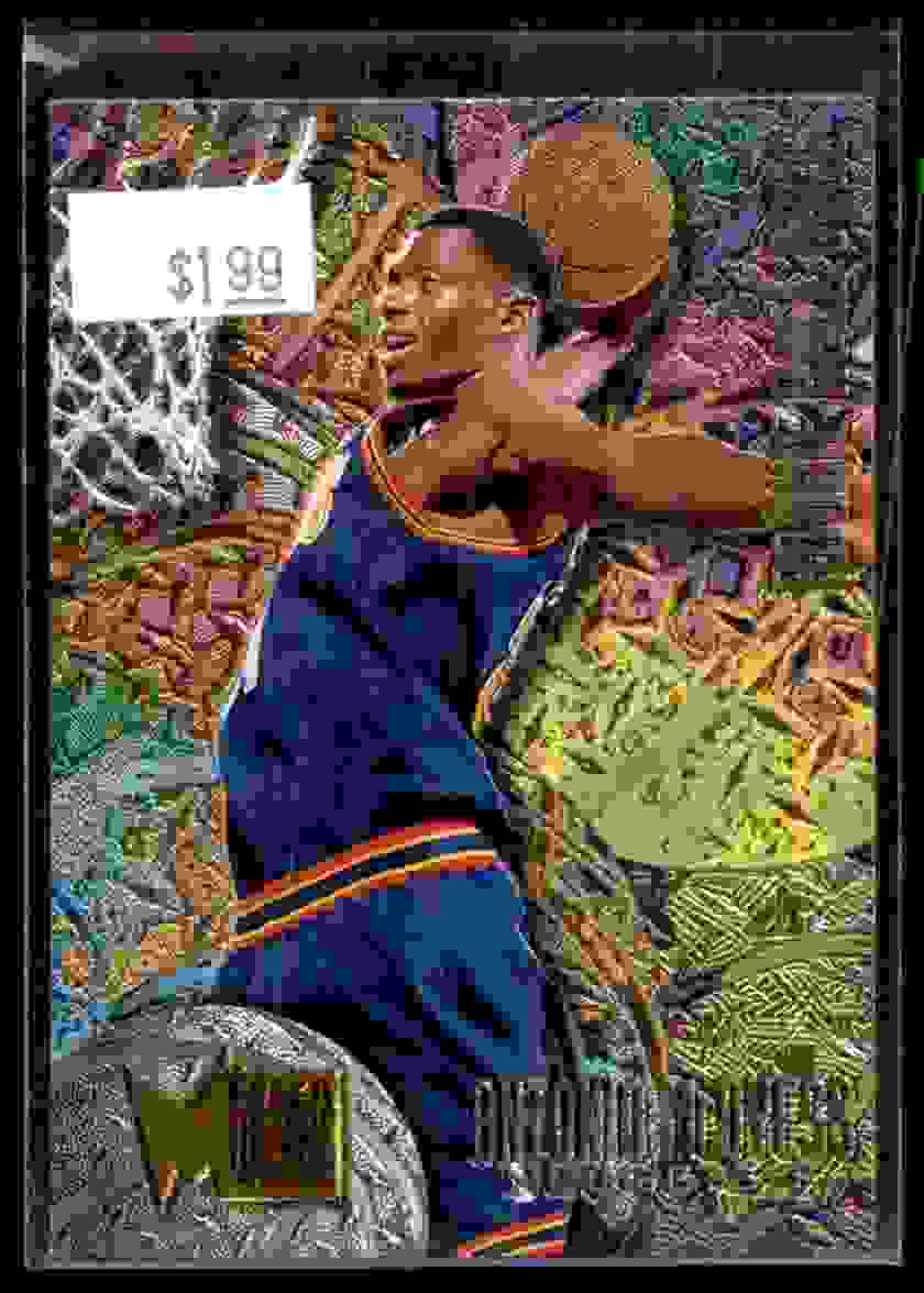 1995-96 Fleer Metal Rookie Roll Call Antonio McDyess #R2 card front image