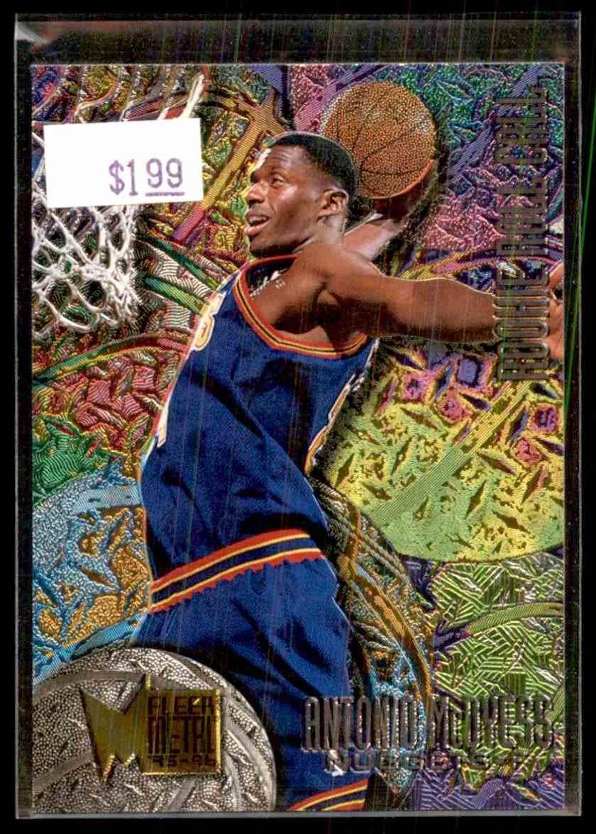 1995-96 Fleer Metal Rookie Roll Call Antonio McDyess #R2 card front image