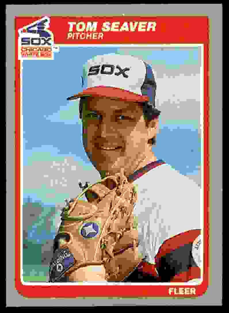 1985 Fleer Tom Seaver #526 card front image