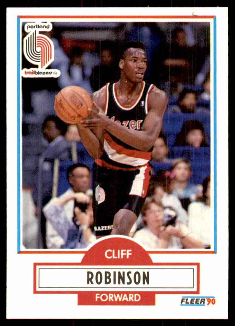 1990-91 Fleer Clifford Robinson RC #159 card front image
