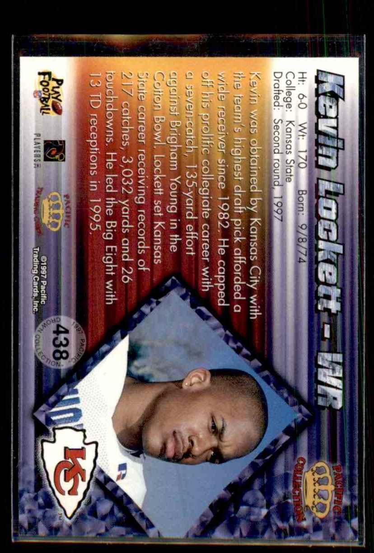 1997 Pacific Kevin Lockett #438 card back image