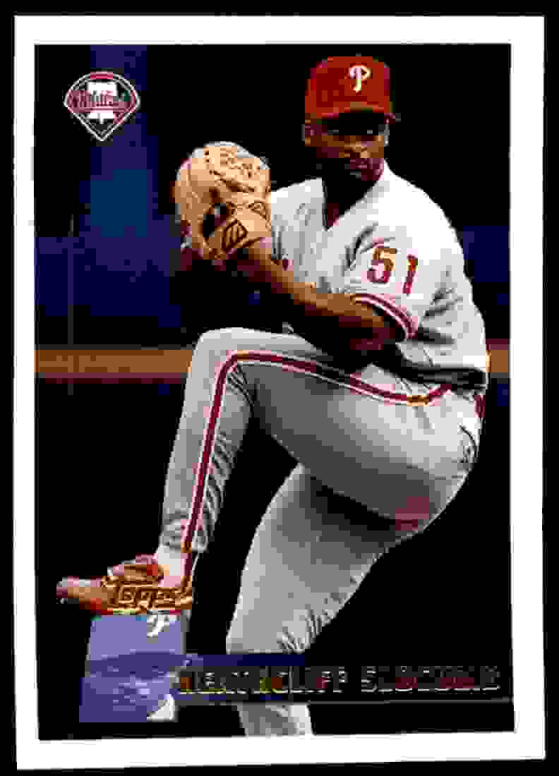 1996 Topps Heathcliff Slocumb #385 card front image