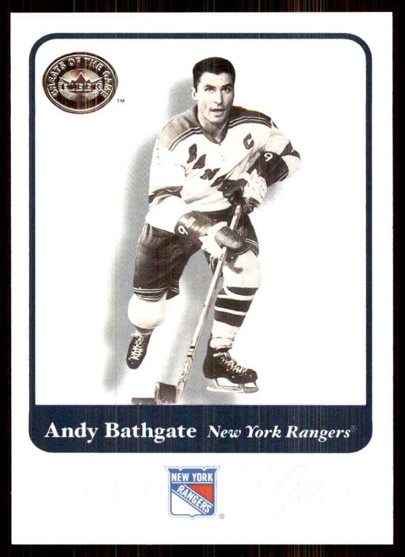 2001-02 Fleer Greats Of The Game Andy Bathgate #65 card front image
