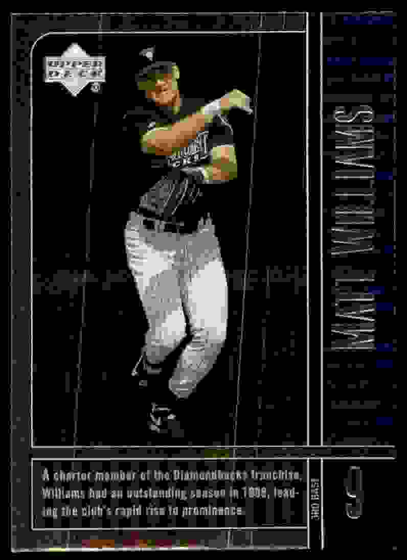 2000 Upper Deck Legends Matt Williams #26 card front image