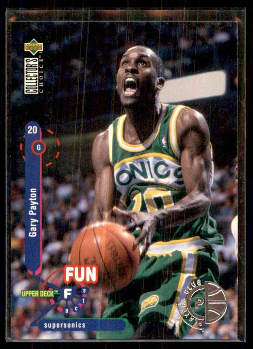 1995-96 Collector's Choice Player's Club Gary Payton #190 card front image